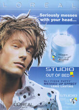 Loreal Out Of Bed Fibre Putty 2004 Magazine Advert #1985
