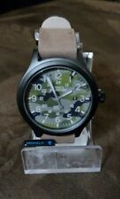 New Mens Timex Indiglo Expedition Military Camouflage Brown Leather Watch