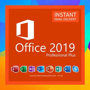 Office Professional Plus 2019 For Windows 1 PC Lifetime License Key