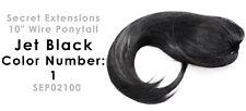 """Secret Extensions 10"""" Wire Ponytail Color Jet Black #1  SEP02100"""