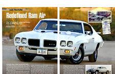 1970 PONTIAC GTO JUDGE RAM AIR IV  ~  NICE 5-PAGE ARTICLE / AD