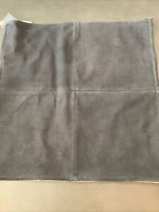 """pottery barn pieced suede pillow cover 20"""" charcoal #1783"""
