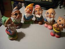 7 NAINS JOUET jouet VINTAGE della CAOUTCHOUC TOYS anni 60/70 7 pièces