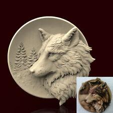 3d STL Model CNC AP025 (Plate Volf) Engraver Carving Machine Relief Artcam