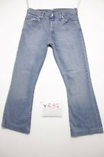 Levi's 516 Flare Bootcut (Cod. Y837)Tg.47 W33 L36 Jeans Usato ACCORCIATO Vintage