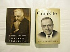 Two Walter Cronkite First Edition Hardcover Books Dj one is Signed by Author