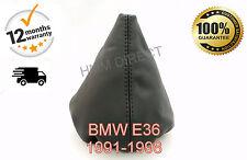 BMW E36 1991-1998 GENUINE ITALIAN LEATHER GEAR GAITER - BLACK STITCH