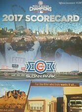 Chicago Cubs 2017 Mesa, AZ Spring Training  Scorecard Felix Pena