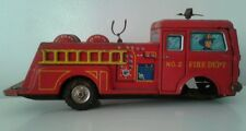 Vintage TIN Fire Truck Metal Tin Toy Japan Hot Mess