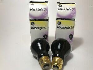 GE Blacklite Light Bulb 60 Watt LOT OF 2 NEW  AV.LIFE 1000 HOURS
