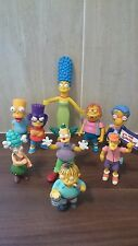 The SIMPSONS vintage action figure X 9 - 1990's collection.MARGE,BART,RALPH ETC