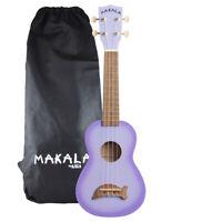 Kala Purple Burst Dolphin Makal Soprano Ukulele with Tote Bag - MK-SD/PLBURST