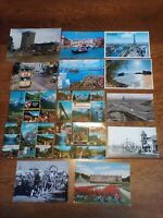 LOT OF 14 POSTCARDS WITH WORLD WIDE STAMPS, USED 1967-2002, 7 ARE AIR MAIL