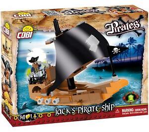 Cobi Captain Jacks Pirate Boat Kids Blocks Bricks 140Pc Compatible Age 5+