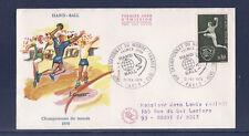enveloppe 1er jour hand ball championnat du monde  Paris  voyagée  1970