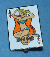 HARD ROCK CAFE 2014 Online Pin Up Card 3 of 4 - Ace of Diamonds Pin # 78573