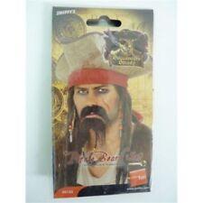 Complementos de piratas color principal negro de pelo para disfraces y ropa de época