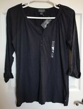NWT Polo Ralph Lauren Size XL Women's Navy Blue Long Sleeve Shirt Top
