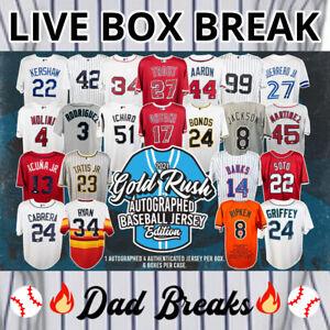 HOUSTON ASTROS Gold Rush autographed/signed baseball jersey LIVE BOX BREAK