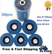 "20x125mm 5"" Flap Discs Wheels 80 Grits Zirconia Angle Grinder"