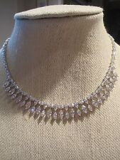 "NWT Nadri Gorgeous Cubic Zirconia 16 "" Collar Necklace- Bridal/Formal-$385"