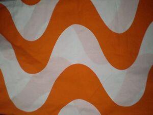 Retro ORANGE WAVE GEOMETRIC PRINT Fabric (50cm x 50cm)