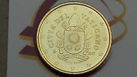 50 cent centesimi euro 2017 fdc UNC VATICANO Vatican Vatikan stemma araldico