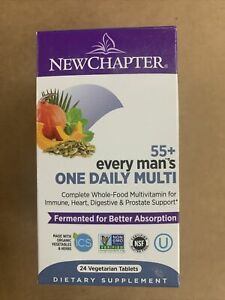 New Chapter Every Man's 55+ One Daily Multi 24 Vegetarian Tablets, Exp 6/21