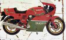 Ducati MHR Mille 1986 Aged Vintage SIGN A4 Retro
