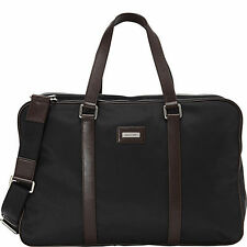 MICHAEL KORS AUTHENTIC Windsor Nylon Duffel Bag NWT BLACK/ BROWN HANDLES  $378.