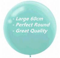 "LARGE BALLOON ROUND ROBIN EGG BLUE 24""/60CM BIRTHDAY PARTY BOY BABY SHOWER LATEX"