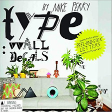 Type Wall Decals  by Mike Perry 200 peel and stick Vinyl letters