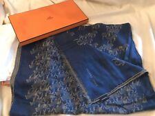 Hermes Cheval Jacquard Cashmere/Silk Scarf