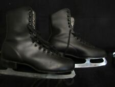 VTG Brookfield ICE SKATES BLACK vintage MENS SIZE 10  in Good Condition