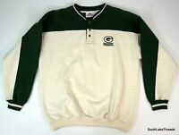 Vintage Antigua Green Bay Packers Sweatshirt Men's Large Two Tone Heavy Knit