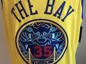 NIke NBA Authentic Golden State Warriors Jersey PROSPERITY #35 DURANT 58 Last 2