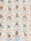 Vtg RARE Holly Hobbie Fabric American Greetings Manes 57×45 Love Friends New #cc
