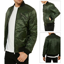 Threadbare Mens Huntsman MA1 Bomber Jacket Designer Camouflage Military Coat