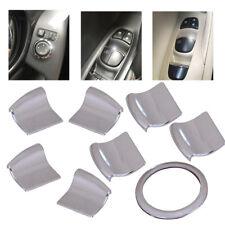 8x Interior Door Window Lift Switch Cover Trim For Nissan Qashqai X-Trail Rogue