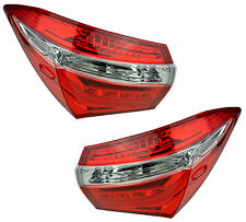 Pair of Tail Lights Toyota Corolla 2014-2015 New ZRE172R Sedan Rear Lamps 14 15