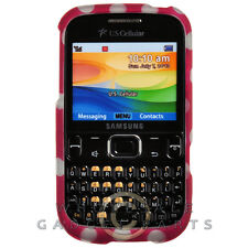 Samsung R480 Freeform 5 Shield Polka Dots Hot Pink Protector Guard Shield