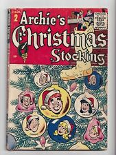 Archie's Christmas Stocking #2 Golden Age Archie Giant 1955 VG