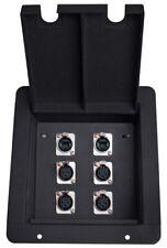 Elite Core FB6-2NE8FD Recessed Stage Pocket Floor Box w/ 4 XLR, 2 EtherCon Cat5e