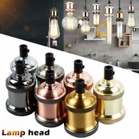 Vintage Lamp Head Socket Pendant Light E27 Screw Bulb Base Aluminum Light Socket