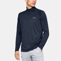 Under Armour Mens Tech 1/2 Zip Long Sleeve Top Navy Blue Sports Gym Half