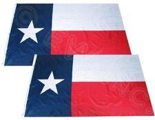 Wholesale Combo Pack of 2 Texas Nylon Poly 3x5 ft Premium Flag House Banner