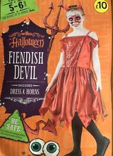 Halloween Fiendish Devil Costume Age 5-6 Years