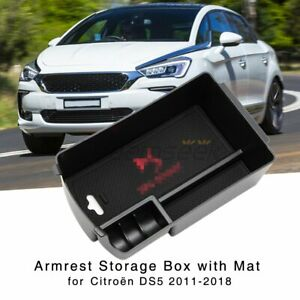 Armrest Storage Box for DS 5 / Citroen DS5 2011-2018 Central Console Holder Tray
