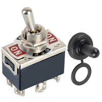 6Pin DPDT ON-OFF-ON Toggle Switch reverse Polarity Motor 15A 250V Switches +Boot