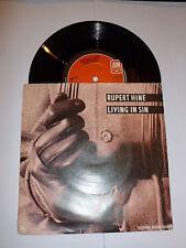 "RUPERT HINE - Living in sin - 1983 UK solid centre 7"" vinyl single"